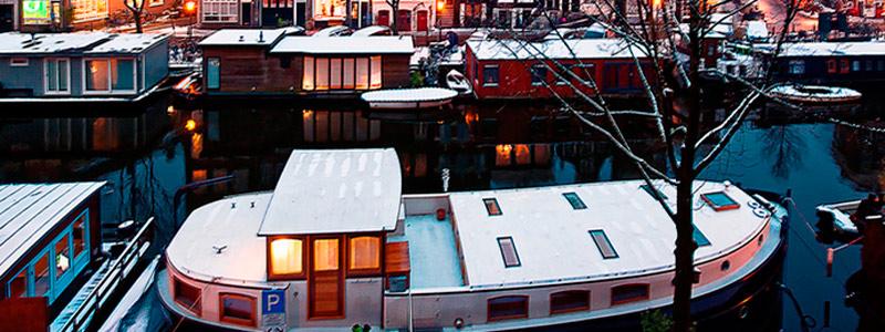 Que ver en Amsterdam - Casas flotantes en Amsterdam