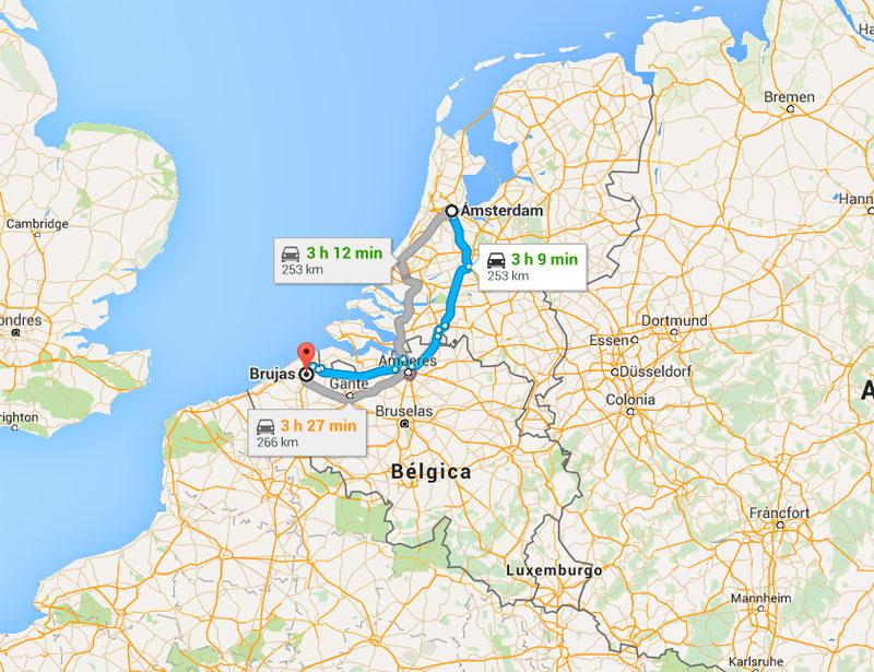 Viaje Amsterdam a Brujas - Laguiadeamsterdam.com