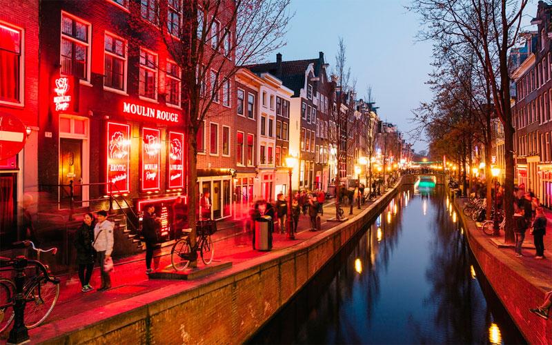 Zona roja de Amsterdam